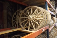 Wooden wheels in stock