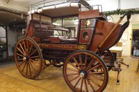 New horsedrawn stagecoach