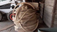 Steam bent wooden wheel rims, felloes