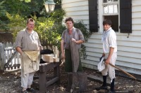 Master Wheelwright Phill Gregson, Paul Zelesnikar and Andrew De Lisle, Colonial Williamsburg