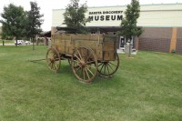 Horsedrawn wagon at Dakota Discovery Museum