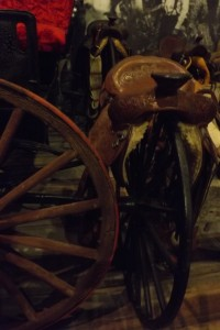 Wheel and saddle