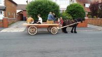 New horsedrawn wagon built at Wheelwright's shop, Lancashire