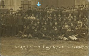 Phill's Great Grandfather Albert Lancelot Crowhurst as a wheewright in the Army Service Corps during WW1